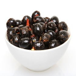 Black Pitted Olives in Hot Chilli Dressing 100g