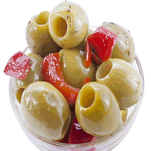Green Pitted Olives with Semi Dried Cherry Tomatoes 100g