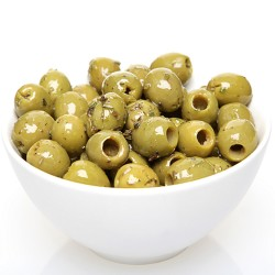 Green Pitted Olives in Italian Herb Dressing 100g