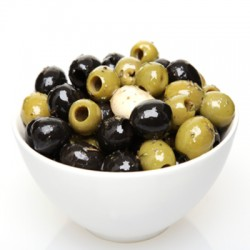 Mixed Pitted Olives with fresh Garlic and Herbs 100g