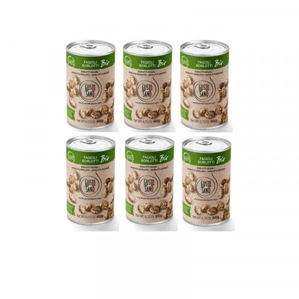 Fagioli Borlotti ( Borlotti Beans ) Organic 6 x 400g