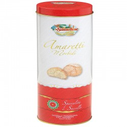 Amaretti Morbidi in Spaghetti Gift Tin 200g