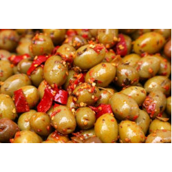 Pitted Green Calabrese Olives 1.0kg