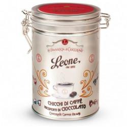 Leone Chocolate Coffee Beans Gift Tin 150g