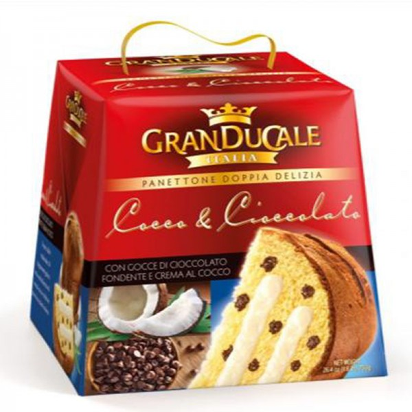 Panettone with Chocolate chips and Coconut cream 750g