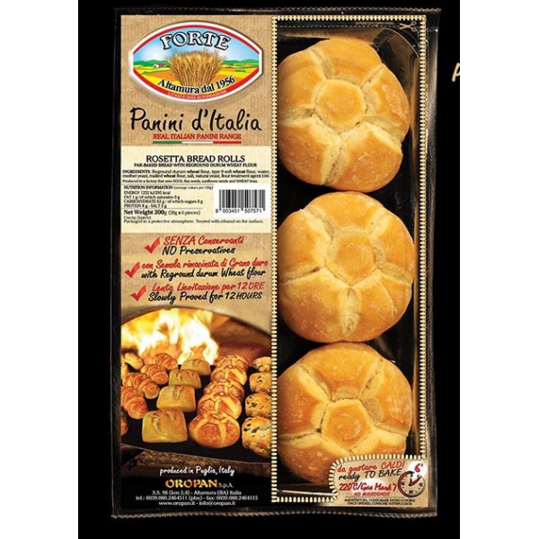 "Panini d""Italia Rosetta Bread Rolls 300g"
