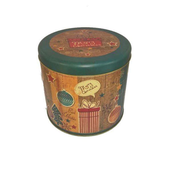 Panettone Gift Tin with Merry Christmas Design 1.0 kg tin