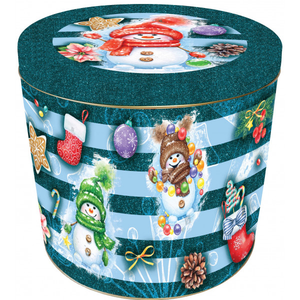 Pandoro Gift Tin Snowman Design 750g