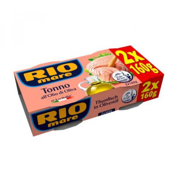 """Rio Mare Tonno all""""Olio di Oliva 2x160g tins"""