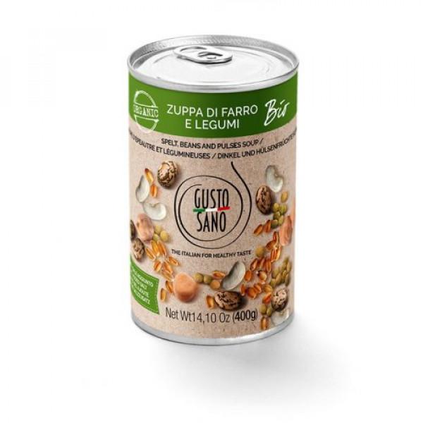 Zuppa Di Farro e Legumi Organic 400g tin